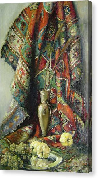 Still-life With An Old Rug Canvas Print