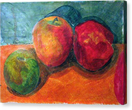 Still Life With Apples Canvas Print by Jame Hayes