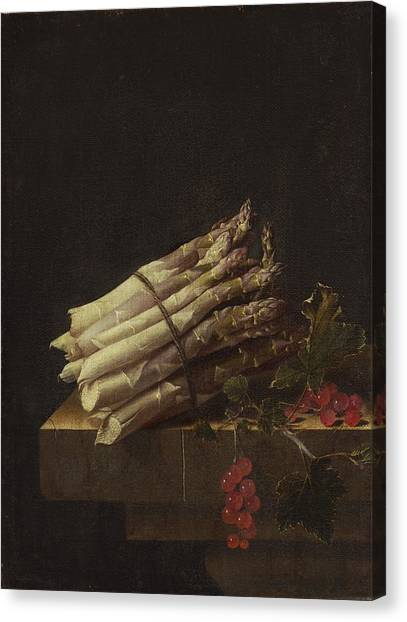 Canvas Print - Still Life With Asparagus And Red Currants by Adriaen Coorte