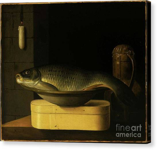 Still Life With Fish Canvas Print - Still Life With Carp  by MotionAge Designs