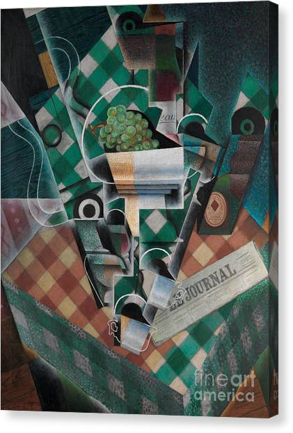 Pablo Picasso Canvas Print - Still Life With Checked Tablecloth, 1915 by Juan Gris