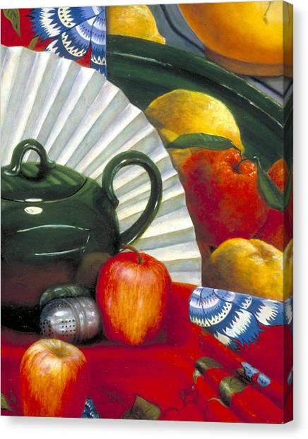 Still Life With Citrus Still Life Canvas Print by Nancy  Ethiel