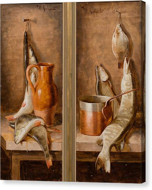 Still Life With Fish Canvas Print - Still Life With Fish by Juli Julievich Klever