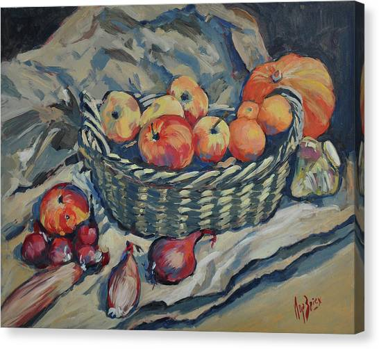 Canvas Print - Still Life With Fruit And Vegetables by Nop Briex