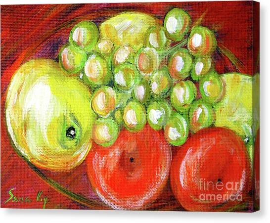 Still Life With Fruit. Painting Canvas Print