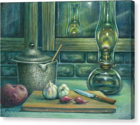 Still Life With Garlic Canvas Print by Colleen  Maas-Pastore