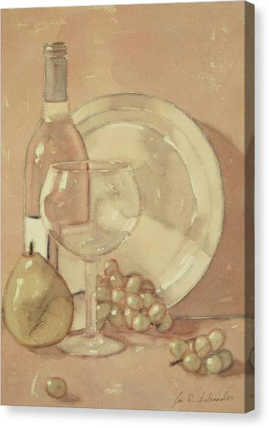 Still Life With Glass And Plate  Canvas Print