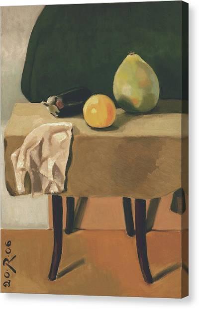 Still-life With Grapefruit Canvas Print by Raimonda Jatkeviciute-Kasparaviciene