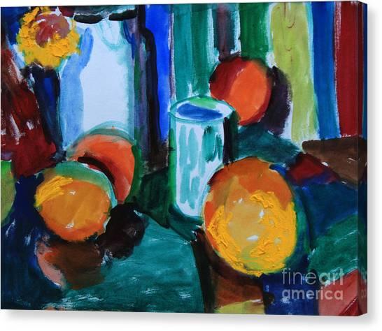 Still Life With Orange Canvas Print by Andrey Semionov