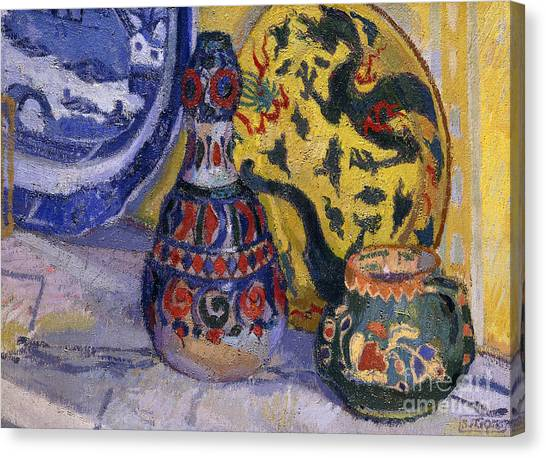 China Town Canvas Print - Still Life With Oriental Figures, 1913  by Spencer Frederick Gore