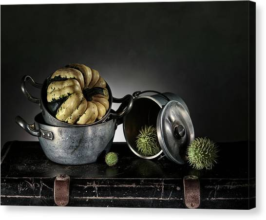 Cottage Style Canvas Print - Still Life With Pumpkin by Nailia Schwarz