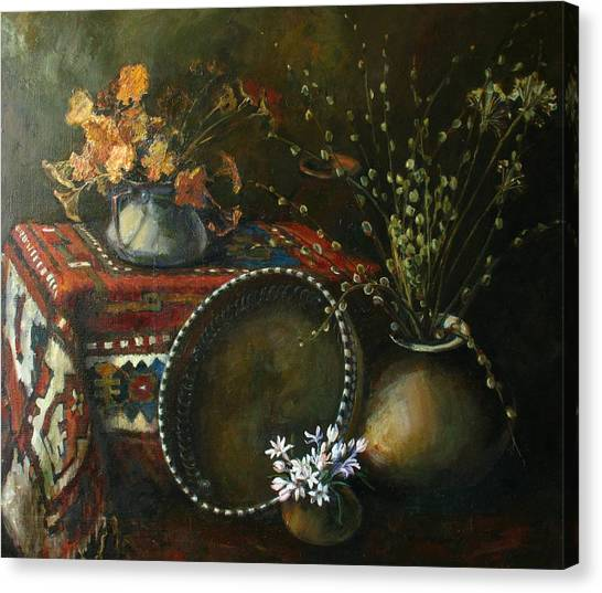 Still-life With Snowdrops Canvas Print