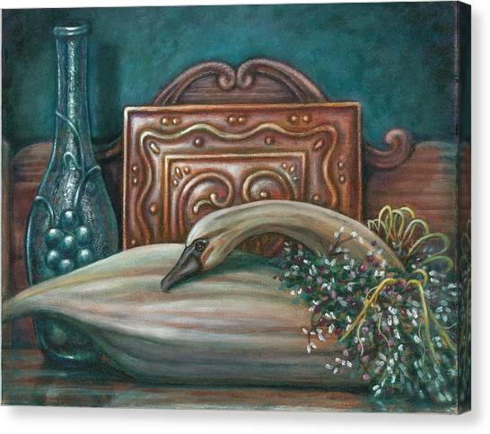 Still Life With Swan Canvas Print by Colleen  Maas-Pastore