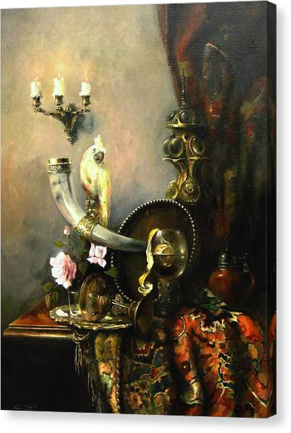 Still-life With The Dojra Canvas Print