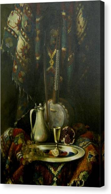 Still-life With The Kamancha Canvas Print