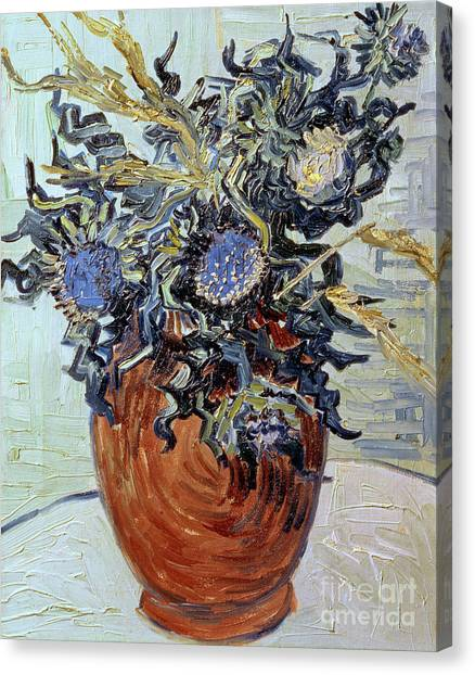 Vincent Van Gogh Canvas Print - Still Life With Thistles by Vincent van Gogh