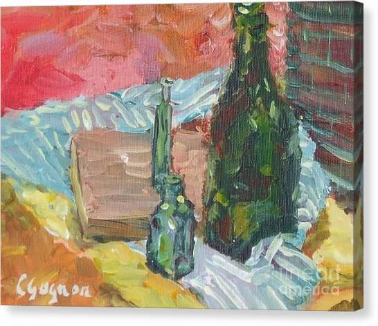 Still Life With Three Bottles Canvas Print