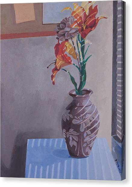 Still Life With Tiger Lilies Canvas Print