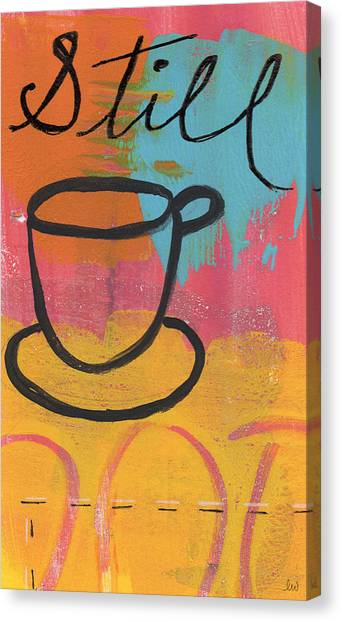Coffee Canvas Print - Still by Linda Woods
