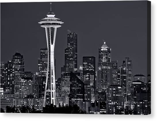 Seattle Canvas Print - Still Of The Night by Dan Mihai