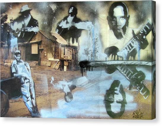 Still Raining Blues Canvas Print