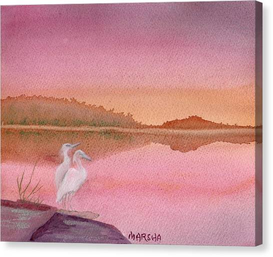 Still Sunset Canvas Print
