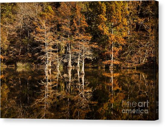 Still Waters On Beaver's Bend Canvas Print