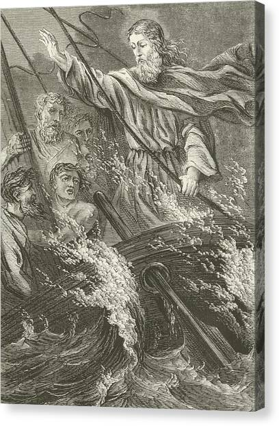 Rope Canvas Print - Stilling The Tempest  by English School