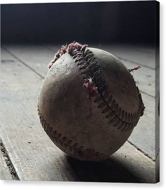 Baseball Canvas Print - Baseball Still Life by Andrew Pacheco