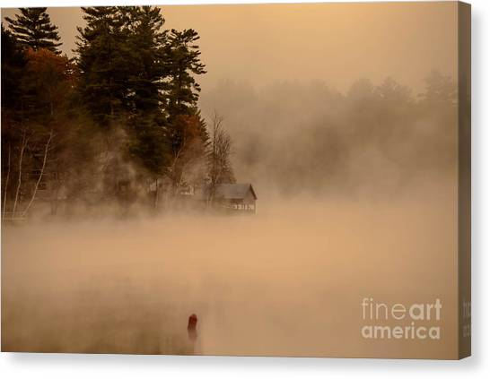 Stillness Of Autumn Canvas Print