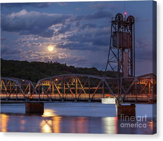 Minnesota Twins Canvas Print - Stillwater Blue Moon by Ernesto Ruiz