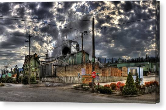 Stimson Lumber Mill Canvas Print