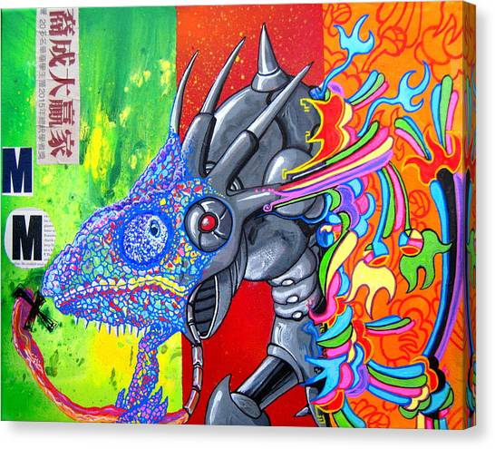 Mega Man Canvas Print - Sting Chameleon by Jacob Wayne Bryner