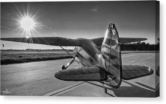 Aac Canvas Print - Stinson On The Ramp by Phil Rispin