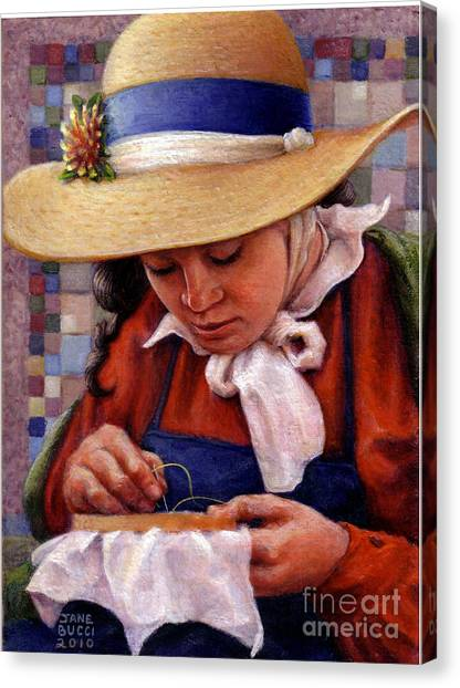 Stitch In Time Canvas Print