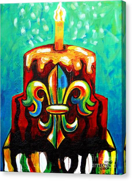 Stl250 Cakeway To The West Payne Gentry House Fleur De Lis Cake Canvas Print