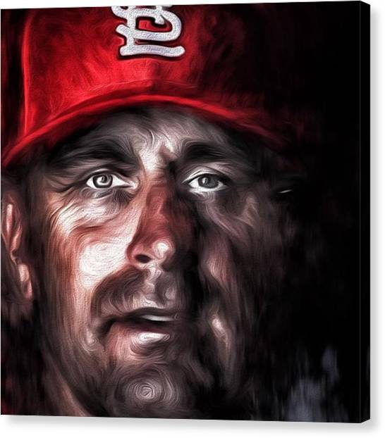 Baseball Canvas Print - #stlouis #stlouismo #stlouiscardinals by David Haskett II