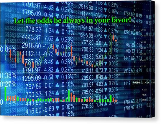 Stock Market Canvas Print - Stock Exchange by Anastasiya Malakhova