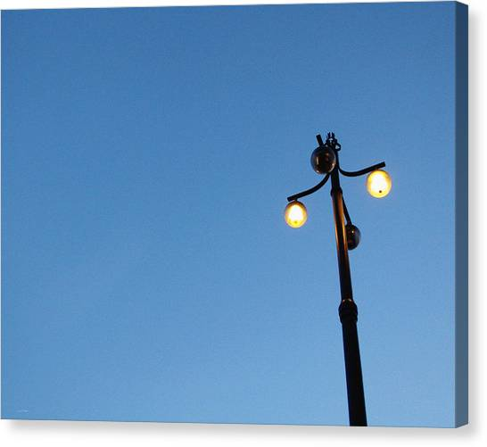 Swedish Canvas Print - Stockholm Street Lamp by Linda Woods
