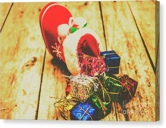 Present Canvas Print - Stocking Up For Christmas by Jorgo Photography - Wall Art Gallery