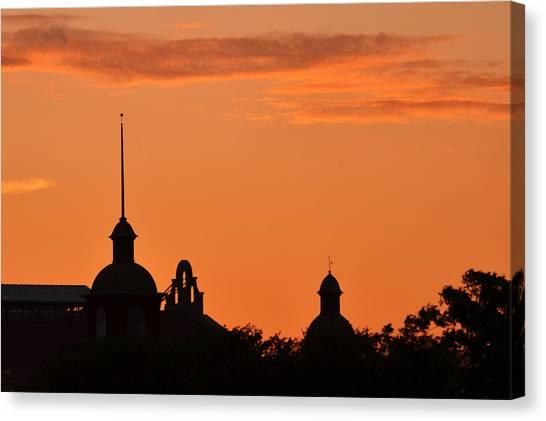 Canvas Print featuring the photograph Stockyard Sunset by Ricardo J Ruiz de Porras