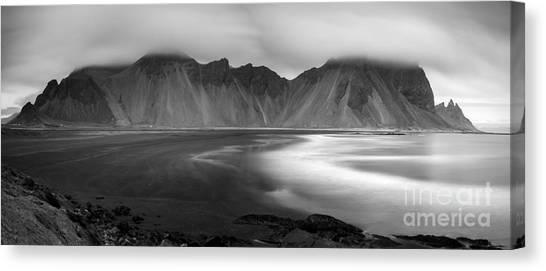 Stokksnes Iceland Bandw Canvas Print
