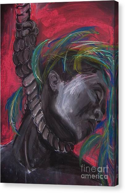 Canvas Print featuring the drawing Stolen Resource by Gabrielle Wilson-Sealy