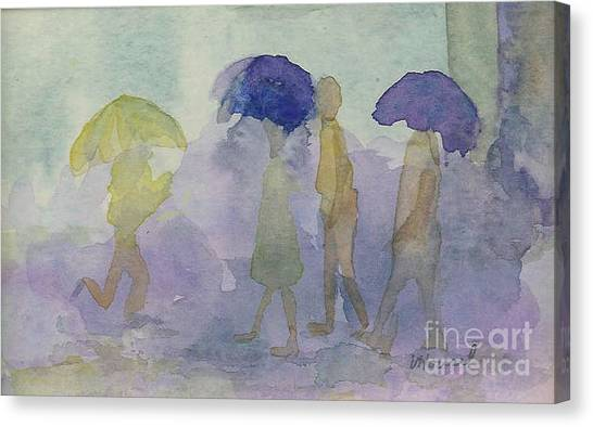 Stomping In The Rain Canvas Print