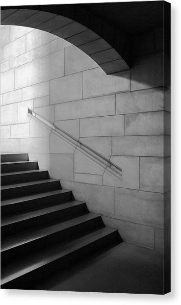 Stone And Steps Canvas Print by Donald Schwartz