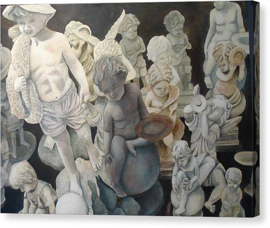 Stone Angels Canvas Print by Victoria Heryet