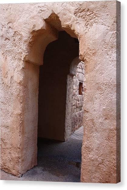Stone Arches Canvas Print by Kim Chernecky