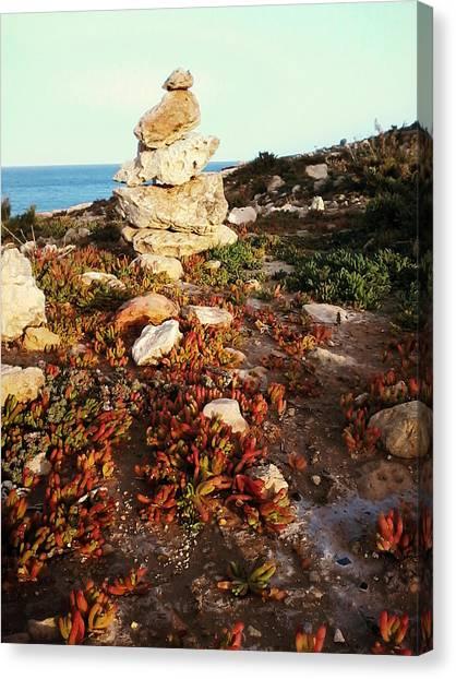 Stone Balance Canvas Print