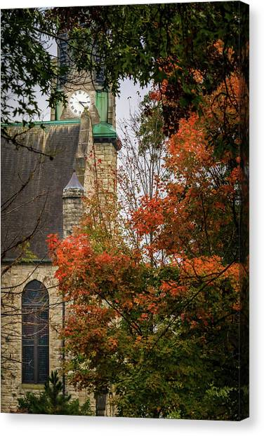 Stone Chapel Fall Canvas Print