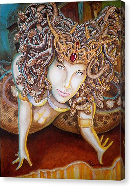 Gorgons Canvas Print - Stone Cold Beauty by Al  Molina